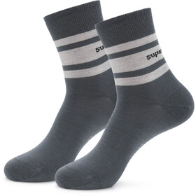 super.natural Everyday Socks Women, gris/blanco